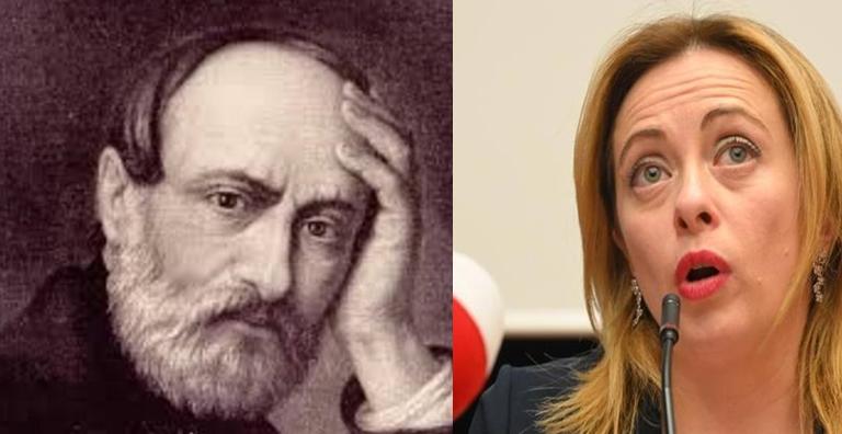 Giorgia Meloni prova goffamente ad appropriarsi del pensiero di Giuseppe Mazzini