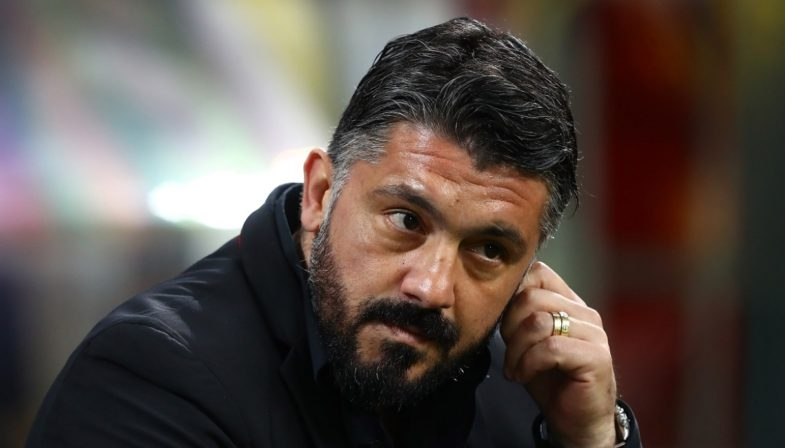 Gennaro Gattuso è sotto tiro al Milan